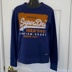 SuperDry Sweatshirt Blue New With Tags Size Small